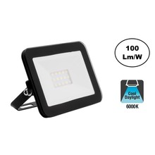 LED Floodlight Slim 10w, 6000KDaglicht Wit, 1000 Lumen (100lm/w), IP65, 2 Jaar garantie