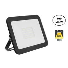 LED Floodlight Slim 30w, 3000K Warm Wit, 3000 Lumen (100lm/w), IP65, 2 Jaar garantie
