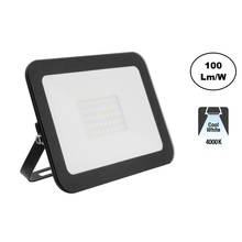 LED Floodlight Slim 30w, 4000K Neutraal Wit, 3000 Lumen (100lm/w), IP65, 2 Jaar garantie