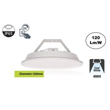 SpaceLux High Bay Led Ufo 80w, 9600 Lumen, 4000K Neutraal Wit, IP65, 3-Steps-dimming, 5 Jaar Garantie