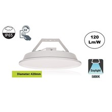 SpaceLux High Bay Led Ufo 80w, 9600 Lumen, 5000K Puur Wit, IP65, 3-Steps-dimming, 5 Jaar Garantie