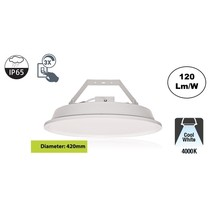 SpaceLux High Bay Led Ufo 120w, 14400 Lumen, 4000K Neutraal Wit, IP65, 3-Steps-dimming, 5 Jaar Garantie