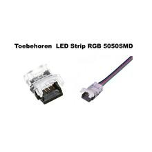 Led Strip Connector t.b.v. Led Strip RGB 5050SMD 10mm  (Zonder solderen)