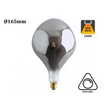 E27 Led Lamp 6w Edison, Big, 2300K Flame, 180 Lumen, Dimbaar, Smoked Glas, 2 Jaar Garantie