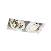 Trimless Inbouw Spot Armatuur, gatmaat 300x157mm, Wit, incl. Stucrand (2x G53 AR111 spot)