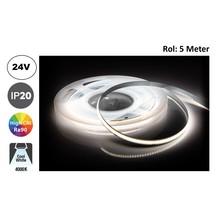 Led Strip ROL 5 Meter COB, 8,8w/m, 320 led/m, 880Lm/m, 4000K Neutraal wit, CRI90, 24v, IP33, 8mm, 2 Jaar garantie