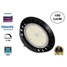 High Bay Led Ufo Xitanium 100w, 19000 Lumen, 6000K Daglicht Wit, IP65, Philips Driver en LumiLeds, 1-10v Dimming, 5 Jaar Garantie