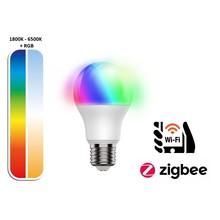 Ynoa Smart E27 LED Lamp 8,5w, RGB+CCT, 800 Lumen, Werkt via Zigbee 3.0 / App / Wifi, 2 Jaar Garantie