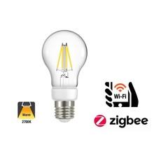 Ynoa Smart E27 Filament LED Lamp 4,2w, 2700K, 470 Lumen, Werkt via Zigbee 3.0 / App / Wifi, 2 Jaar Garantie