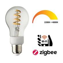 Ynoa Smart E27 Filament LED Lamp 5w, CCT: 2200K-4000K, 470 Lumen, Werkt via Zigbee 3.0 / App / Wifi, 2 Jaar Garantie