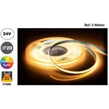 Led Strip ROL 5 Meter COB, 8,8w/m, 320 led/m, 880Lm/m, 1700K Flame, CRI90, 24v, IP33, 8mm, 2 Jaar garantie