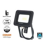 LED Breedstraler SBL 10w, 1000 Lumen, 6400K Daglicht Wit, (Bewegingssensor Optioneel), IP65, 2 Jaar Garantie