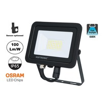 LED Breedstraler SBL 30w, 3000 Lumen, 6400K Daglicht Wit, (Bewegingssensor Optioneel), IP65, 2 Jaar Garantie