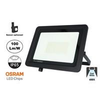 LED Breedstraler SBL 100w, 10000 Lumen, 4000K Neutraal Wit, (Bewegingssensor Optioneel), IP65, 2 Jaar Garantie