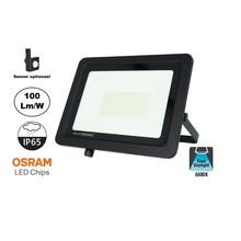 LED Breedstraler SBL 100w, 10000 Lumen, 6400K Daglicht Wit, (Bewegingssensor Optioneel), IP65, 2 Jaar Garantie