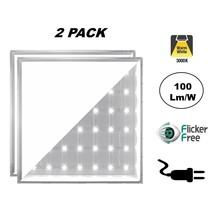 2 PACK - ECO Backlite LED Paneel 60x60cm, 40w, 4000 Lumen (100lm/w), 3000K Warm Wit, Flikkervrije Driver, Stekkerklaar, 2 Jaar Garantie