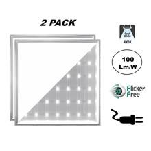 2 PACK - ECO Backlite LED Paneel 60x60cm, 40w, 4000 Lumen (100lm/w), 4000K Neutraal Wit, Flikkervrije Driver, Stekkerklaar, 2 Jaar Garantie