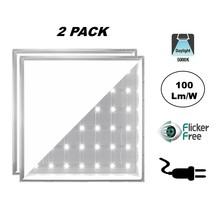 2 PACK - ECO Backlite LED Paneel 60x60cm, 40w, 4000 Lumen (100lm/w), 5000K Puur Wit, Flikkervrije Driver, Stekkerklaar, 2 Jaar Garantie