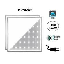 2 PACK - ECO Backlite LED Paneel 60x60cm, 40w, 4000 Lumen (100lm/w), 6000K Daglicht Wit, Flikkervrije Driver, Stekkerklaar, 2 Jaar Garantie