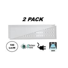 2 PACK - ECO Backlite LED Paneel 30x120cm, 40w, 4000 Lumen (100lm/w), 5000K Puur Wit, Flikkervrije Driver, Stekkerklaar, 2 Jaar Garantie