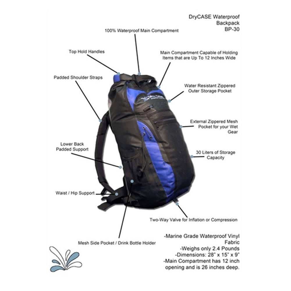 DryCASE BP-35 waterdichte rugzak