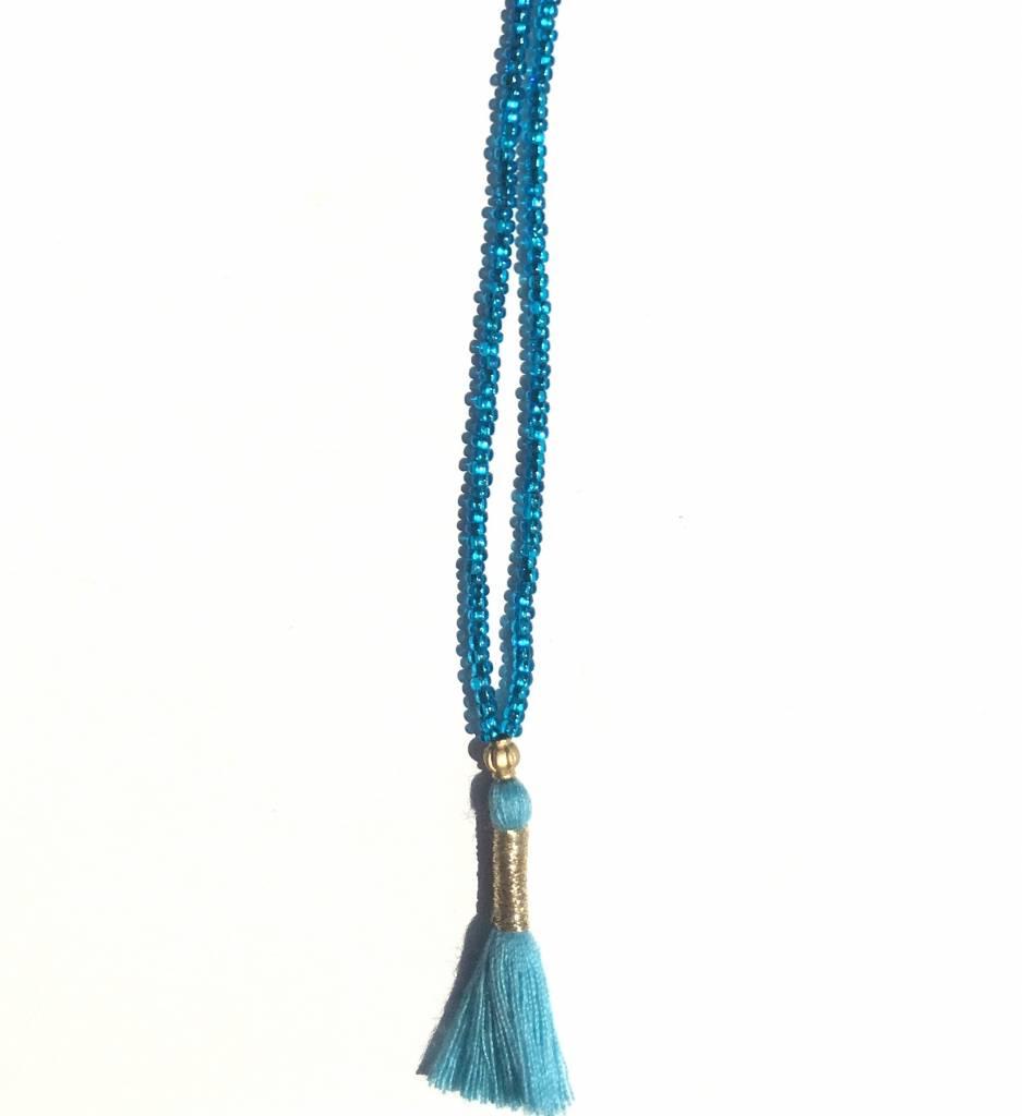 blue jewel necklace