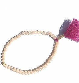 Jewels by SJ Elastisch armbandje met tassel