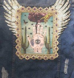 Monikmo Art Jeans jacket L