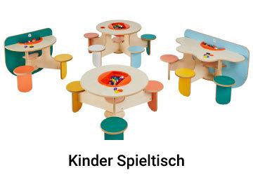 Kinderspieltisch mit festen Stuehlen