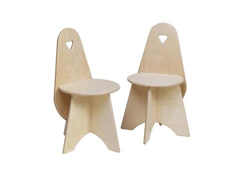 Kinderstuhl aus Holz (2er-Set)