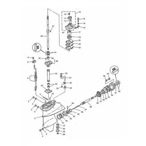Yamaha Gearcase Assy Parts