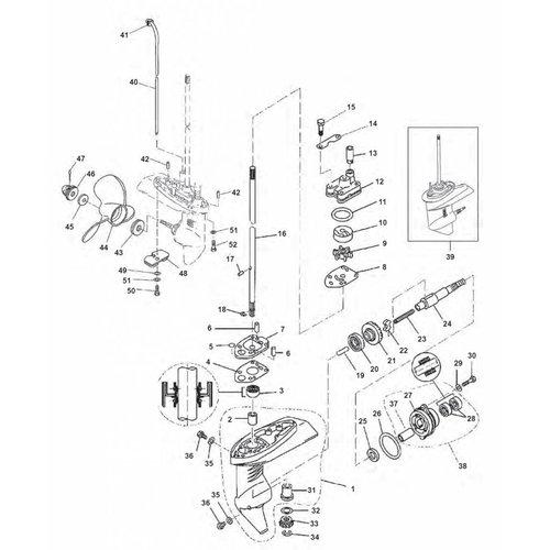Yamaha F2.5 Staartstuk onderdelen