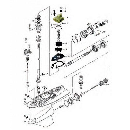 Yamaha VZ 200/225/250/300 pk Staartstuk onderdelen