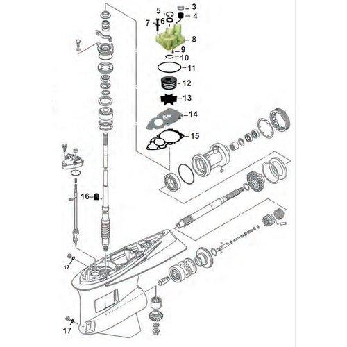 Yamaha  F300 / F350 V8 4-stroke Gearcase Assy Parts