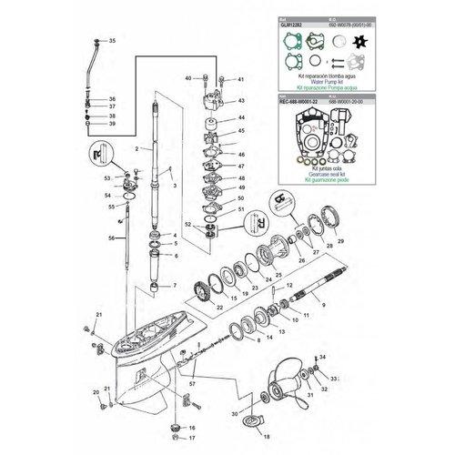 Yamaha 85 HP / 90 HP Gearcase Assy Parts