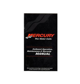Mercury Marine user manual 25/30 hp 2-stroke