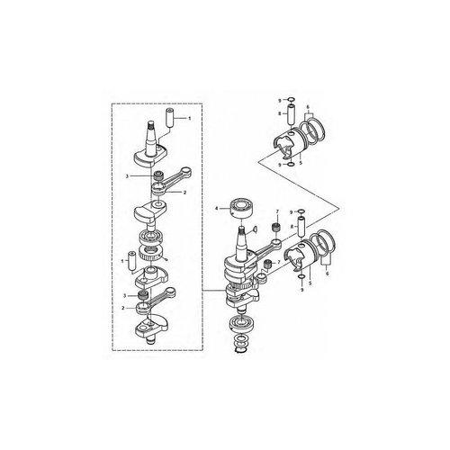Tohatsu / Mercury 25 / 30 HP Crankshaft Parts