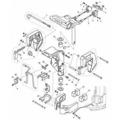 Tohatsu 8 / 9.8 HP Bracket Parts