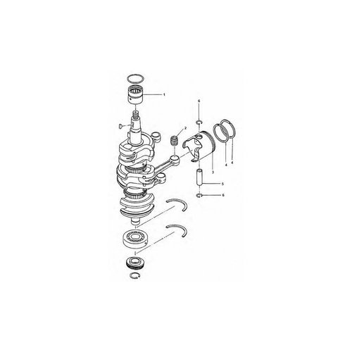 Tohatsu / Mercury 40 / 50 HP Crankshaft Parts