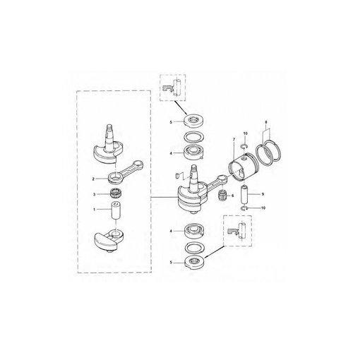 Tohatsu / Mercury 4 / 5 HP 2-stroke Crankshaft Parts