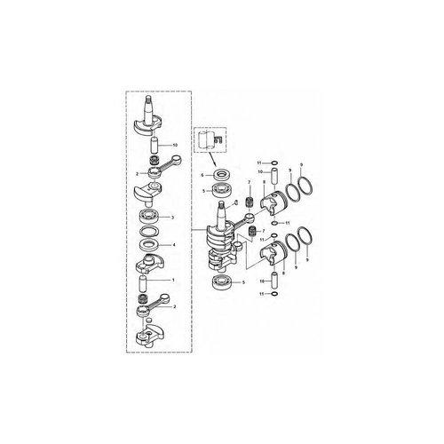 Tohatsu / Mercury 6 / 8 / 9.8 HP 2-stroke Crankshaft Parts