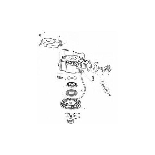 Tohatsu Starter Assy 8/9,8/9,9 pk aantrek mechanisme parts