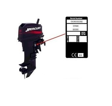 Yamaha/Mariner/Evinrude Bougie 4 pk t/m 115 PK (NGKBR7HS)
