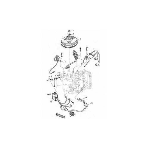 Tohatsu onsteking onderdelen 8/9.8/9.9 pk 4T vliegwiel CDI/Sator/Bobine/Trigger etc.