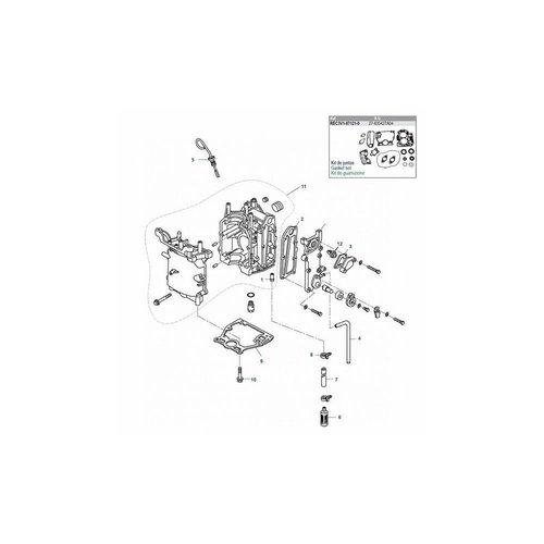Tohatsu/Mercury 8/9.8 pk 4T  Crankcase motor carters onderdelen