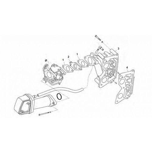 Tohatsu/Parsun inlaat Intake MFS8 / MFS9.8 pk onderdelen