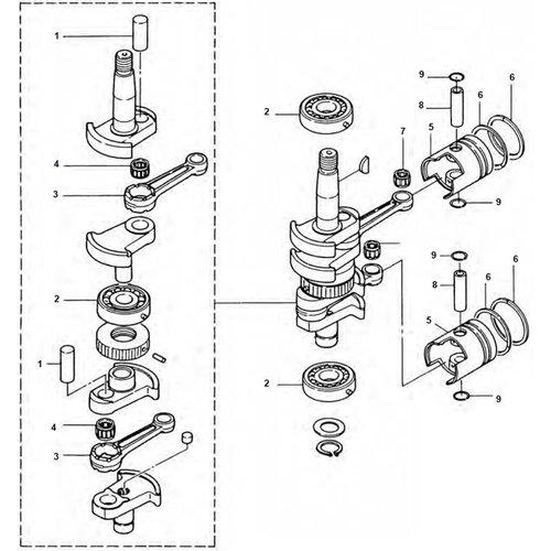 Johnson / Evinrude Crankshaft Other Parts