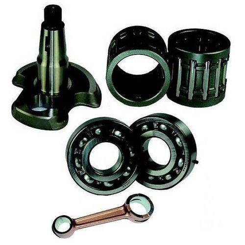 Suzuki krukas/Cranckshaft +lagers/bearing en drijfstand/connecting rod