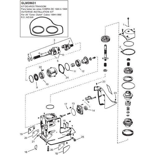 OMC 1994-1998 Cobra upper gearcase