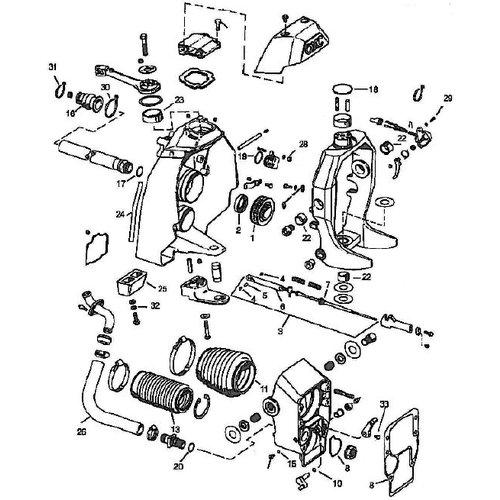 OMC 1986-93 Transom shield COBRA